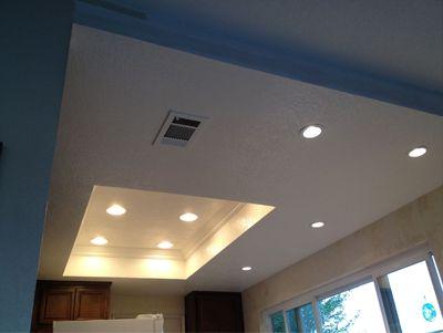 professional kitchen lighting installation