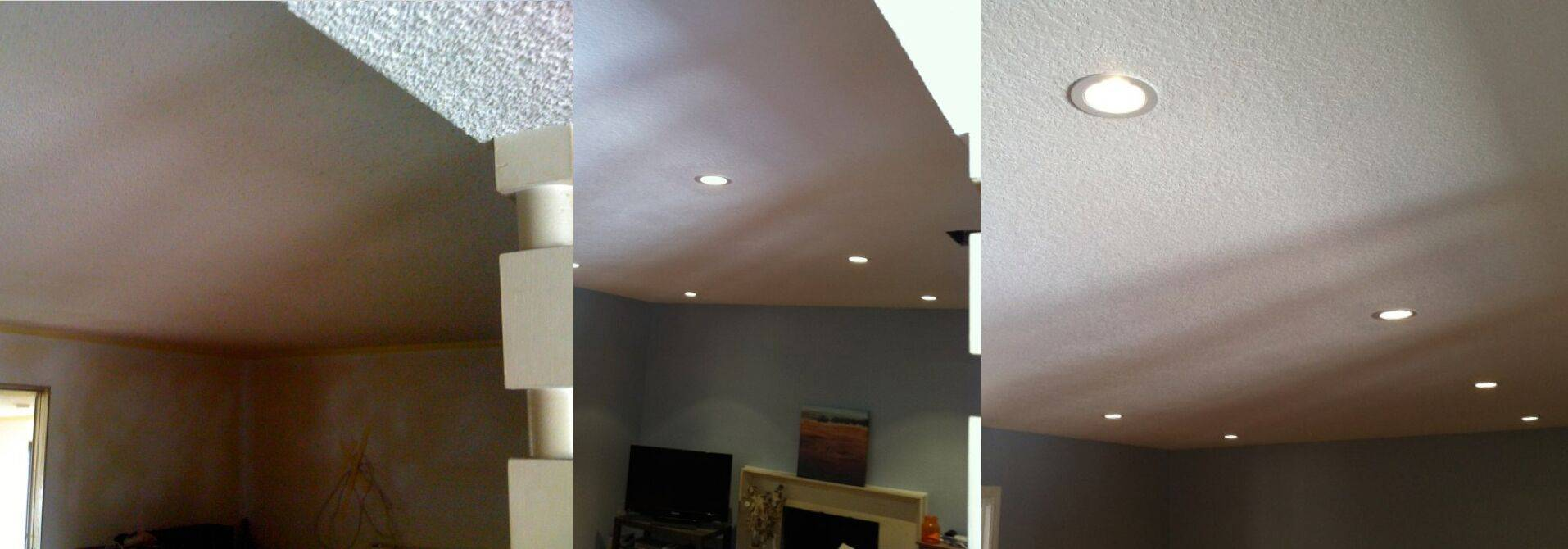 can you install recessed lighting in popcorn ceiling